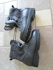 WELLCO TEMPERATE WATERPROOF BLACK LEATHER WORK BOOTS MENS 6 WIDE MADE IN USA