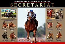 SECRETARIAT: THE GREATEST TRIPLE CROWN WINNER COMMEMORATIVE POSTER
