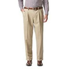 "NWT DOCKERS D3 CLASSIC FIT 'STAIN DEFENDER"" KHAKIS PLEATED PANTS-TAN-38X29"