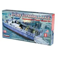 Lindberg 70866 D-Day Invasion L.C.V.P Model Kit 1/32 Scale New Boxed -T/48 Post