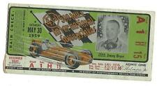 1959 Indianapolis 500 Mile Race Ticket Stub Indy