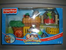 NEW 2003 Fisher Price Little People Watchful Woodsman Robinhood Dragon Castle