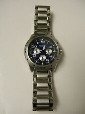 Fossil BQ9362 Multifunction Stainless Steel Blue Dial Watch - PREOWN