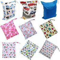Zipper Diaper Nappy Wet Dry Bag Reusable Swim Travel Tote 2-Pocket Waterproof