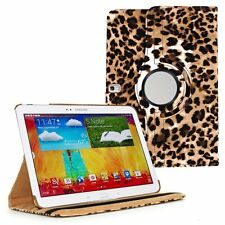 Leopard Leather 360 Degree Rotating Case Cover for Samsung Galaxy Note 10.1 2014