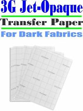 HEAT TRANSFER PAPER 3G JET-OPAQUE IRON ON DARK FABRIC INKJET PAPER 100 PK 11*17