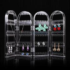 Crystal Clear 4 Doors Bracelet Earrings Necklace Jewelry Display Stand Holder