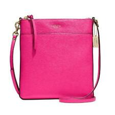 Coach F51313 Pink Ruby Saffiano Leather North South Swingpack Bag #ShopDrop