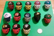 NHL FRANKLIN MINI HOCKEY HELMETS Lot of 13 NHL LICENSED PRODUCT VINTAGE