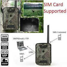 1080P HD 12MP Hunting Scouting Trail Camera Game Security IR LED MMS SMS Night