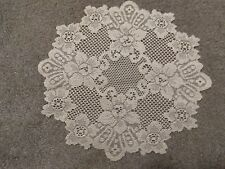 """New White lace Cleremont design table Doily 12""""round"""