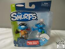The Smurfs figurine 2-pack - Brainy Smurf & Pilot Smurf NEW Jakks Pacific