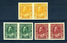 CANADA Scott 136 to 138 - NH - Complete Set of Admiral Imperforate Pairs (.036)