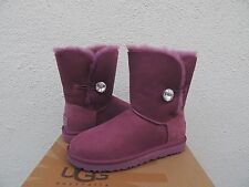 UGG BOUGAINVILLEA BAILEY BUTTON BLING SUEDE/ SHEEPSKIN BOOTS, US 9/ EUR 40 ~NEW