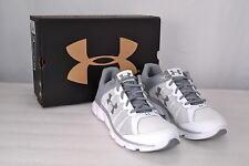 Women's Under Armour, 1266252, Micro G Assert 6 Running Shoes, White/Silver, 10
