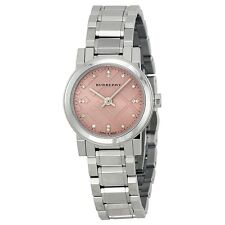 Burberry Diamond Pink Dial Stainless Steel Ladies Watch BU9223, Fast delivery