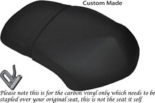 CARBON FIBRE VINYL CUSTOM FITS YAMAHA XF 50 GIGGLE DUAL SEAT COVER ONLY