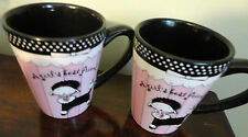 FIB BURTON & BURTON FOR GIVING SOULS FANCY PINK BLACK WITH STONE 2 COFFEE MUG