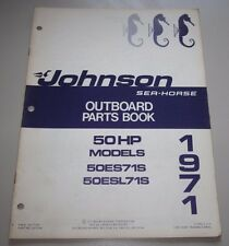 Parts Book Johnson Sea Horse Ersatzteilkatalog 50 HP Models 50ES71S / 50ESL71S