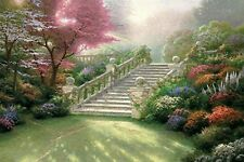 Printed Thomas Kinkade Landscape Oil Painting Prints On Canvas Wall Art Picture