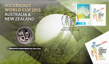 2015 ICC Cricket World Cup FDC/PNC With Official ICC World Cup Coin