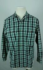 Vintage TOMMY HILFIGER Mens M Double Chest Pocket Loop Button Collar Shirt Plaid