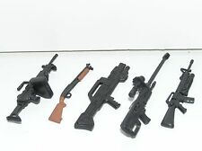 "GI Joe & Military Action Figure Large Gun & Rifle Lot of Five #7G 3-3/4"" Scale"