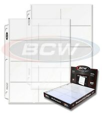 Lot of 10 BCW Pro 8 Pocket Trading Card / Coupon Album Pages binder sheets