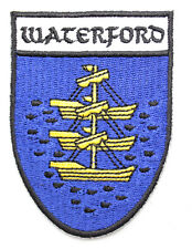 Irish Waterford Crest Shield Embroidered Iron/Sew-on Cloth Badge Patch Appliqué