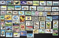 75 All Different   BI-PLANES ON STAMPS