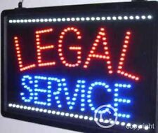 QUALITY  FLASHING  LEGAL SERVICES led new shop signs