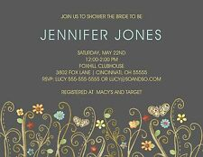 Chalkboard Floral Path Couples Bridal Wedding Shower Invitation Any Colors