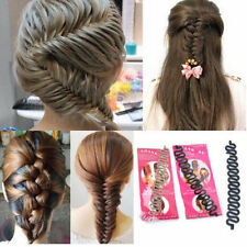 Donna Fashion Hair Braider Twist Acconciatura Clip Treccia Strumento per Capelli