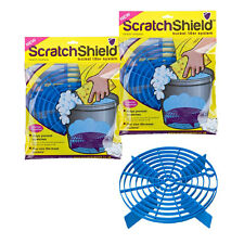 2 x Scratch Shield Grit Guard Adjustable Universal Wash Bucket Water Filter BLUE