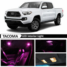 12x 2016-2017 Toyota Tacoma Pink Interior LED Lights Package Kit