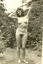"D 313# VINTAGE PHOTO su ""agfa lupex"" 1960`s Nude Pin-Up Girl NSI Nudist atto NUDO"