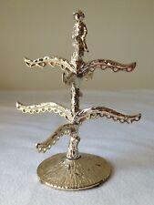 Vintage Silver Ormolu Abgel Cherub Vanity Earring  Holder Tree Stand