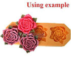 Rose Flower Cabochon Food Grade Silicone Mold Making For Polymer Clay 40mm A053