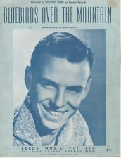 """JOHNNY REBB  Rare 1959 Aust Only OOP Orig Sheet Music """"Bluebirds Over The Mt"""""""