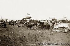 Anadarko, Oklahoma Townsite in a Cornfield - 1901 - Historic Photo Print
