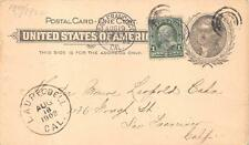 USA SCOTT UX14 & #279 STAMP POSTAL CARD LAUREL DELL CALIFORNIA DPO 1902