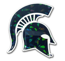 Michigan State Spartans Reflective Domed Auto Decal -NEW NCAA Emblem Car Sticker