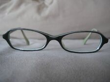 Fairfax grey w/ black and white stripe detail eyeglasses frames 47-16-145 Japan