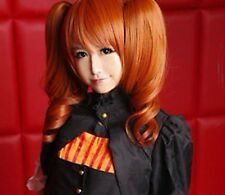 HOT SELL! NEW Sound horizon Marchen Dark Orange Cosplay Wig + 2 Ponytails N.0686