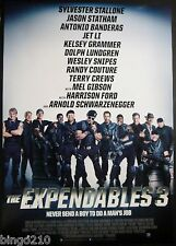 THE EXPENDABLES 3 ORIG 1 SHEET POSTER SYLVESTER STALLONE JASON STATHAM 2014