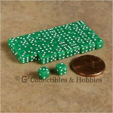 NEW 5mm 50 Opaque Green Mini Dice Set RPG Game Miniature Tiny 3/16 inch D6