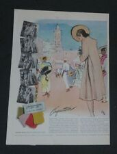 Original 1941 Print Ad FORSTMANN Woolen Conquistador Tourist Art Eric