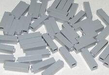 Lego Lot of 50 New Light Bluish Gray Bricks 1 x 1 x 3 Column Parts