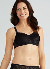 Pocketed Mastectomy Bra 'Rebecca' by Amoena BLACK Lace Post Surgery Bra - 38A