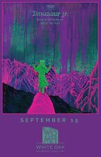 """DINOSAUR JR. """"GIVE A GLIMPSE OF WHAT YER NOT"""" 2016 HOUSTON CONCERT TOUR POSTER"""